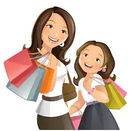 Faire du shopping avec votre mere en anglais.
