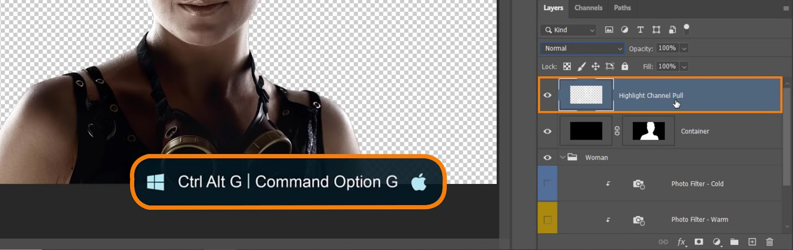 press Ctrl Alt G on Windows or Command Option G on macOS