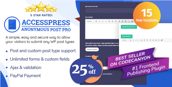 accesspress anonymous post pro wordpress plugin with 25 percent discount