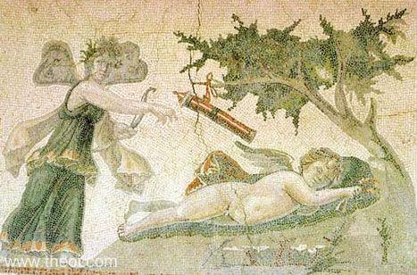 C:\Users\K\Google Drive\ΕΡΓΑ\Ατελη\Πεταλουδα\Psyche & the sleeping Eros, Roman mosaic C3rd A.D., Antakya Museum.jpg