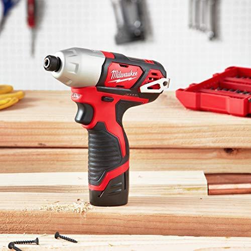Power Tools Milwaukee 2462-20 M12 1/4 Inch Hex Shank 12 Volt ...