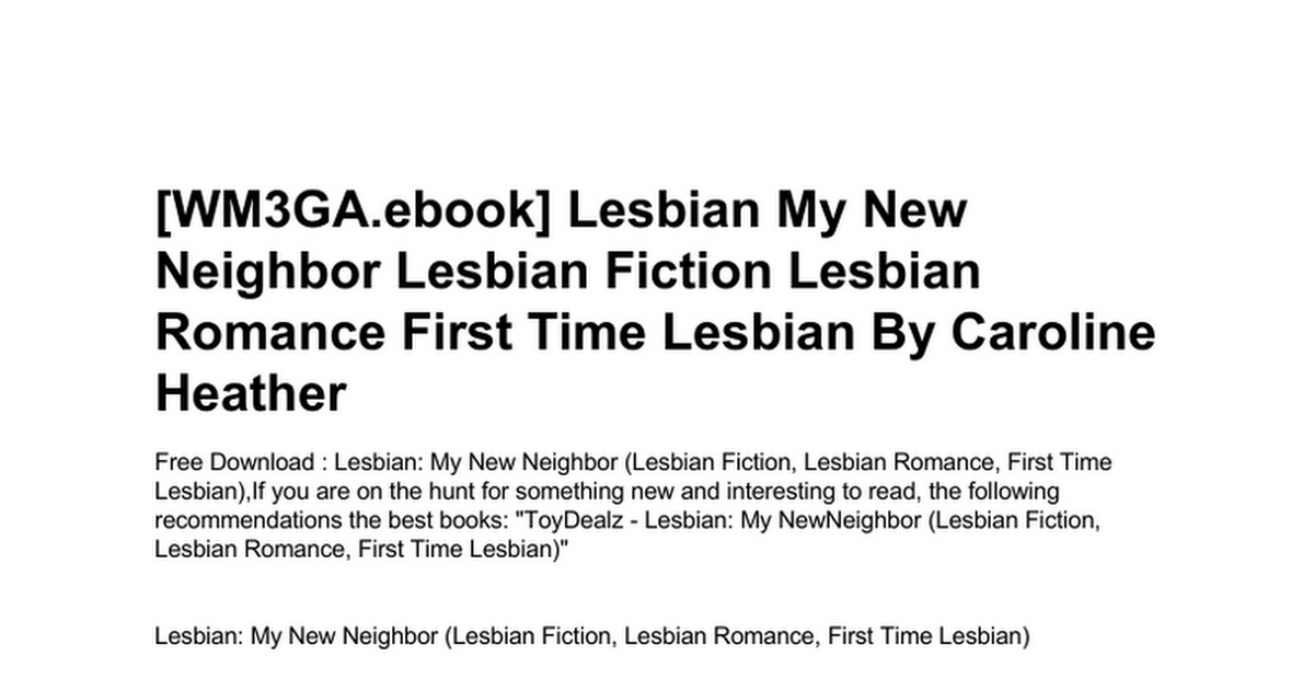 my first time lesbian