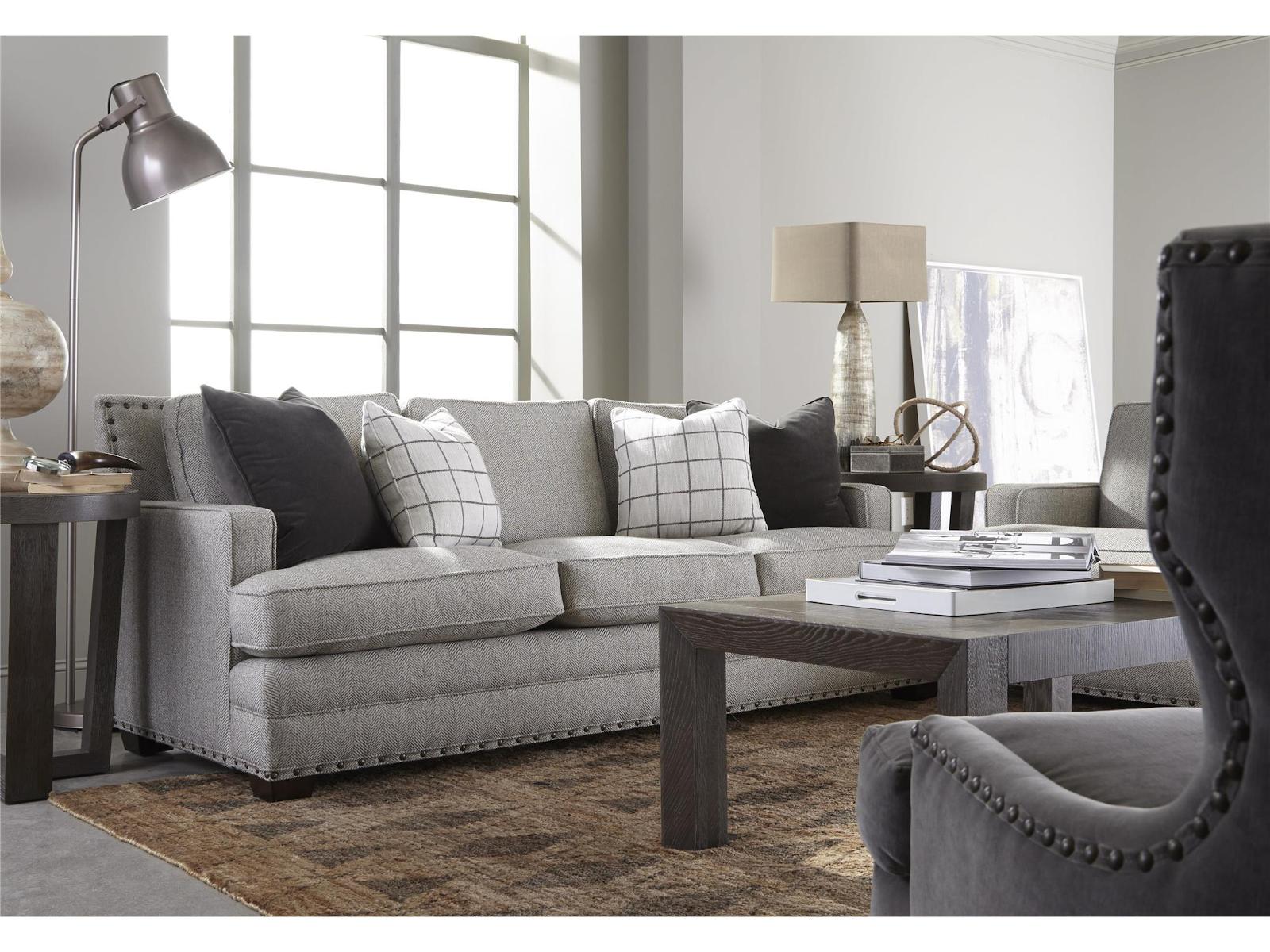 Casual living room with grey Lawson sofa; sofa styles; MGSD