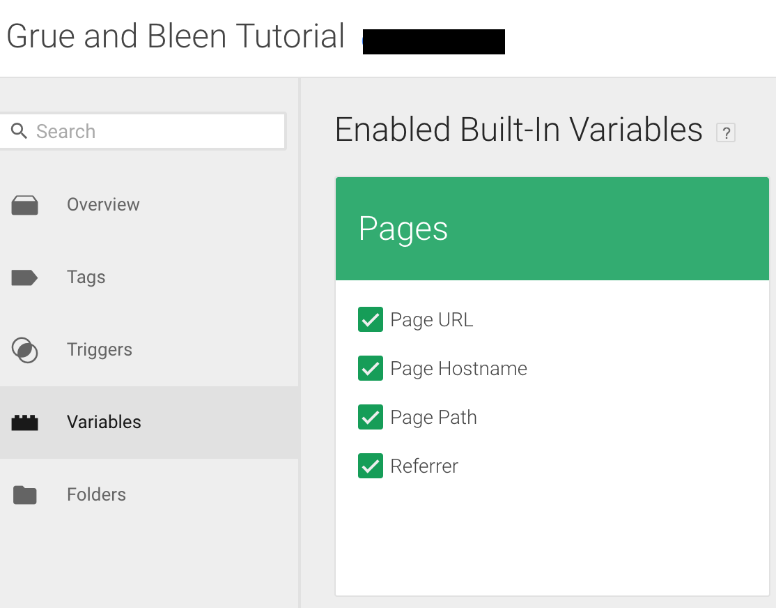 Create a Google Analytics Constant Variable