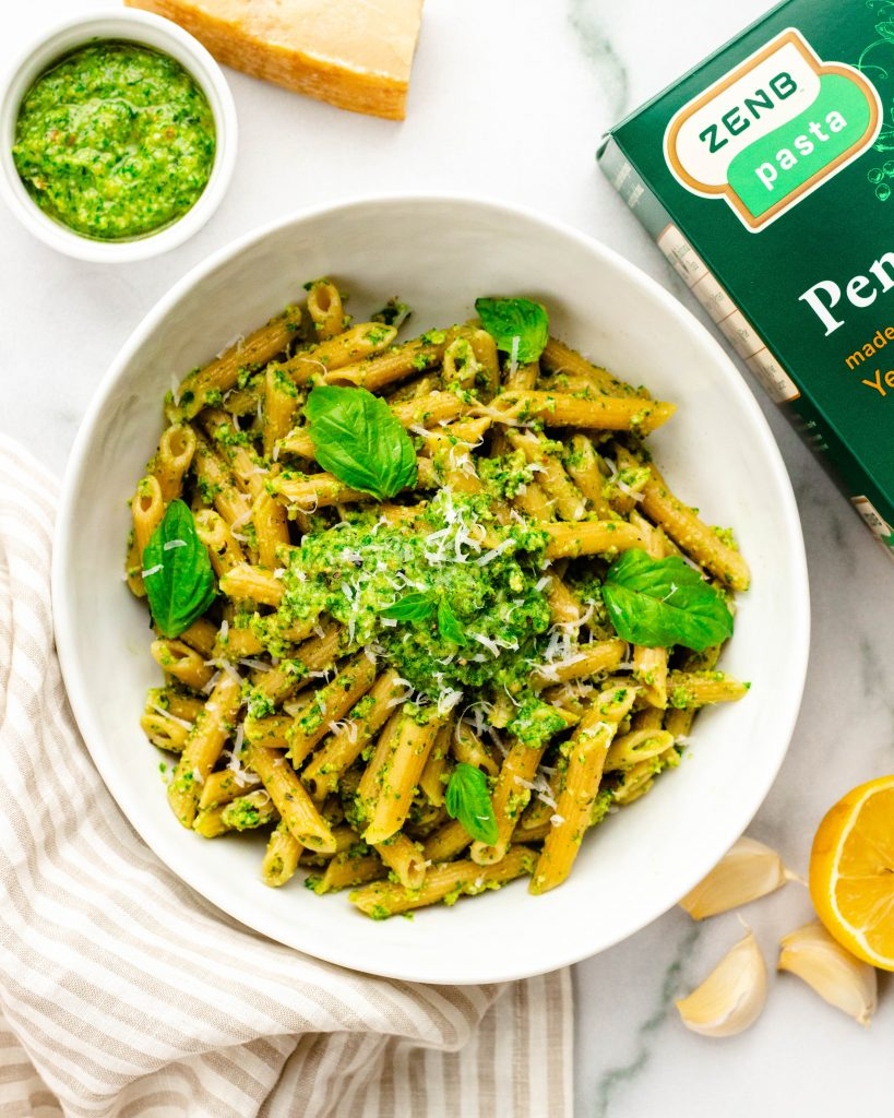 Kale Pesto Pasta | Daisybeet, MS, RD