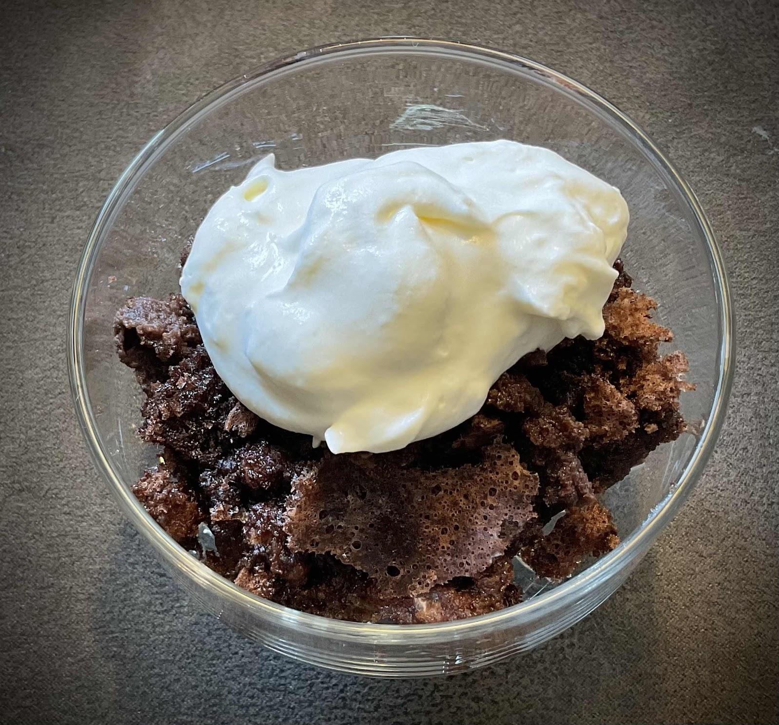 Keto Baked Fudge (top view)