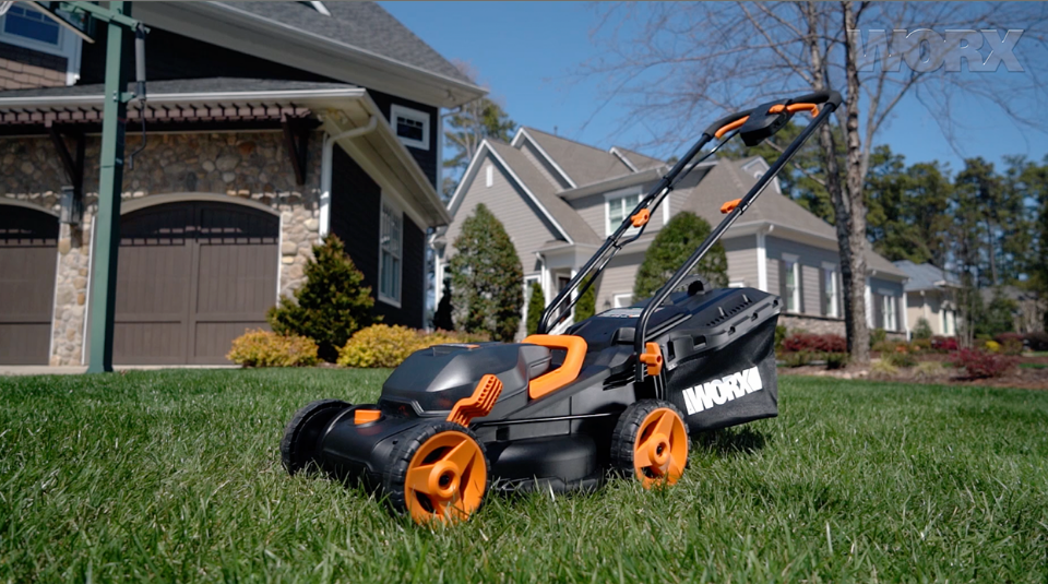 """40V (4.0Ah) Cordless 14"""" Lawn Mower with Mulching Capabilities and ..."""
