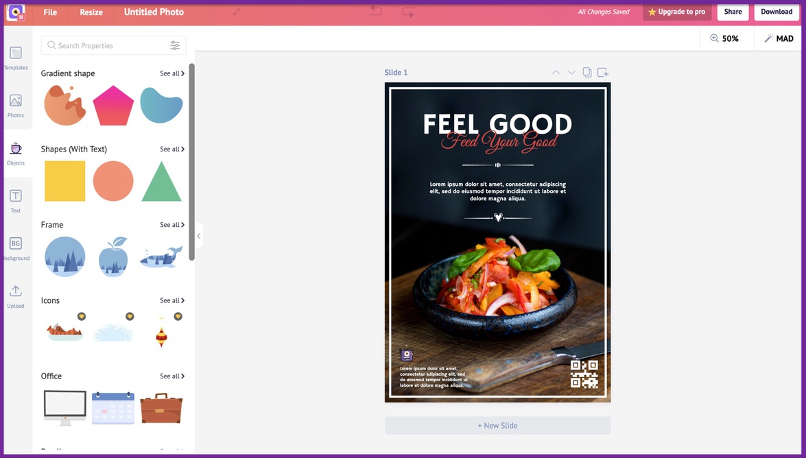 How to create a business flyer - step 2 -screenshot 4