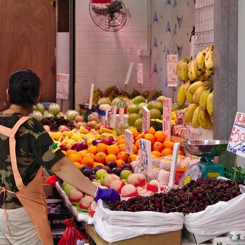 Shopping local at the Hong Kong wet market