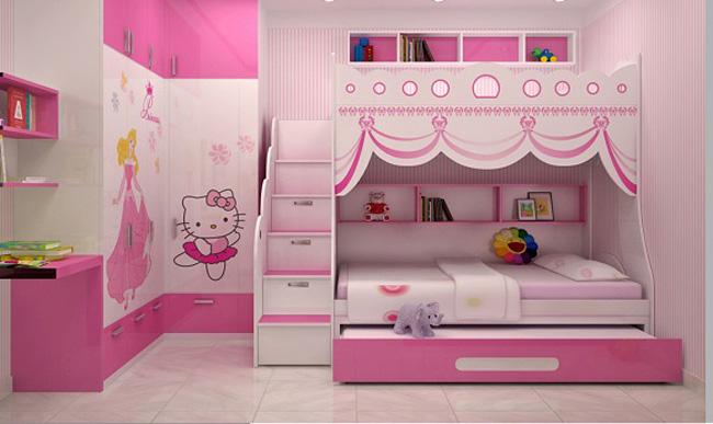 giường ngủ đẹp cho bé gái đang yêu