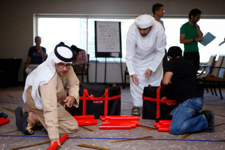 participants engaging in an experiential learning activity
