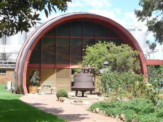 the big wine barrel is a scaled replica of an actual barrel