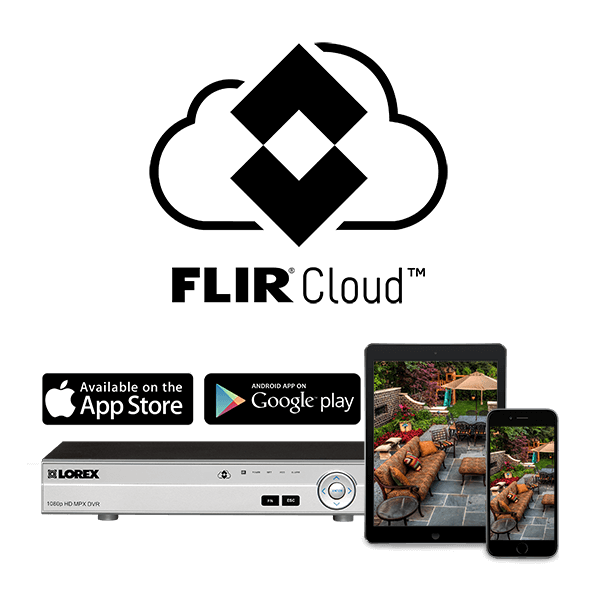 View the live feed of your cameras from anywhere in the world with FLIR Cloud