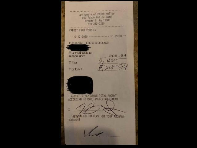 Gianna DiAngelo, a Pennsylvania waitress who has dreams of becoming a nurse, is one step closer after one of her restaurant patrons tipped her $5,000 on a $200 bill.