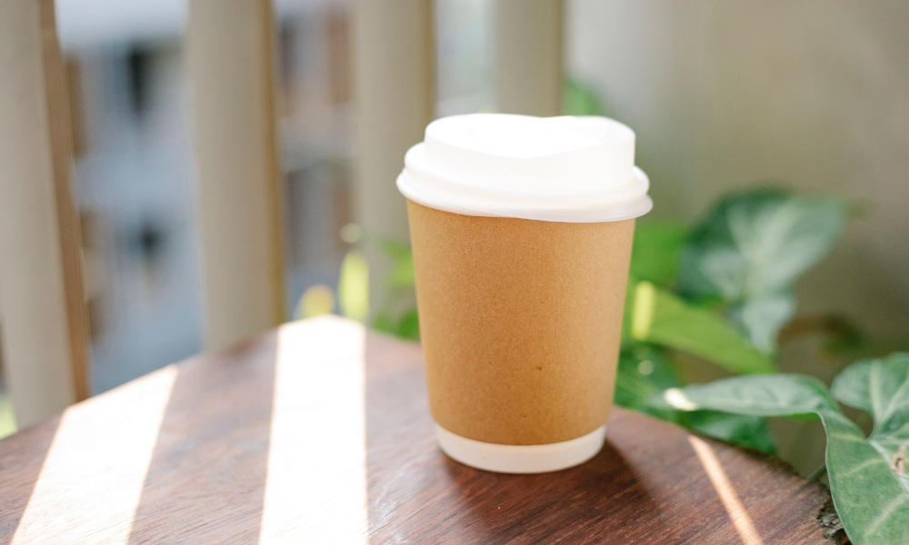 compostable takeaway coffee cup