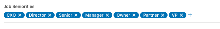 Linkedin search filter