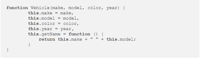 فئات JavaScript classes article- Constructor year
