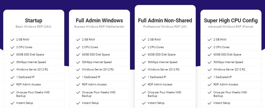 Pricing Free RDP Server