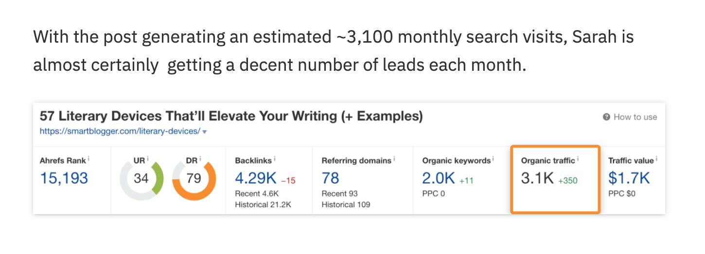 example of product-led content from ahrefs