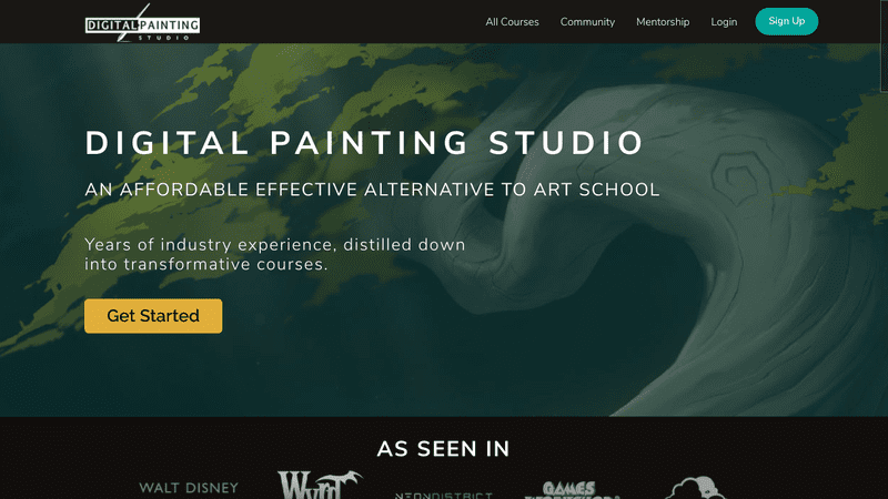 Digital Painting Studio is a self-study platform that covers all major aspects of digital art, from digital painting basics to creation of unique and compelling characters, creatures, and environments.