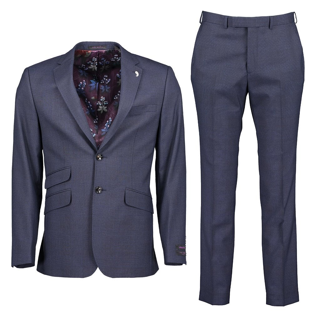 TED BAKER Wovinn Sterling Subtle Check Two-Piece Suit