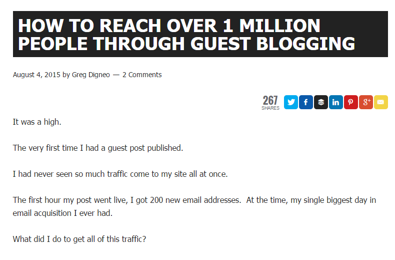 promote your blog through syndication example