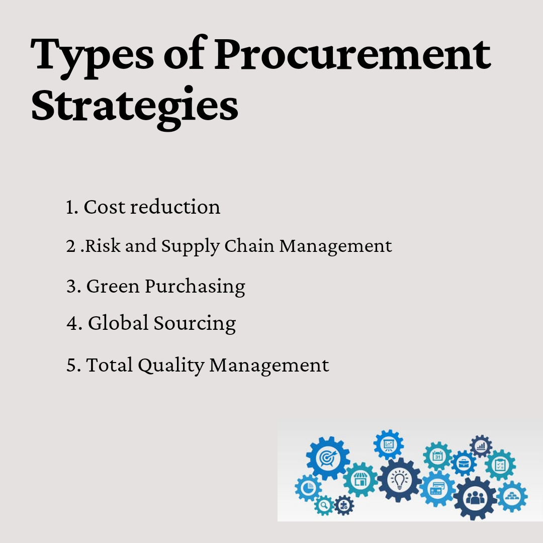 Types of Procurement Strategy