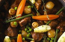 Root vegetables in a stew