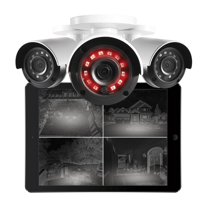 HD night vision bullet and dome security cameras for 24/7 security coverage