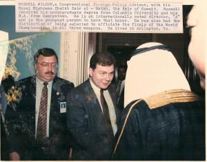 Russel Wilson meeting the Emir of Kuwait