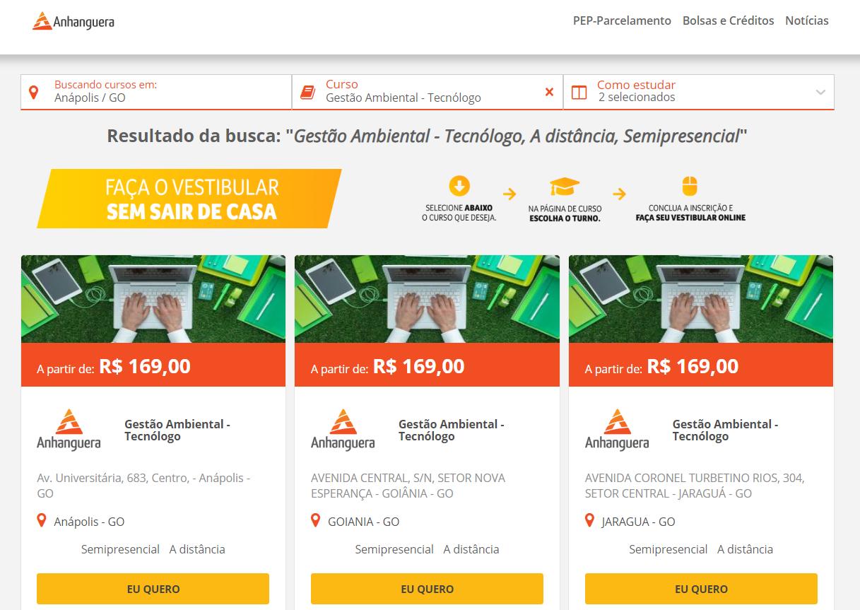 Anhanguera Anápolis: como conferir cursos e preços