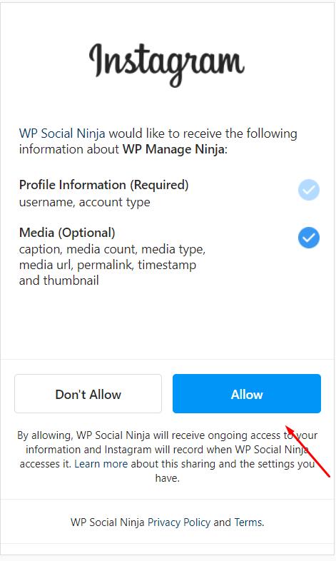 Allow Instagram feeds