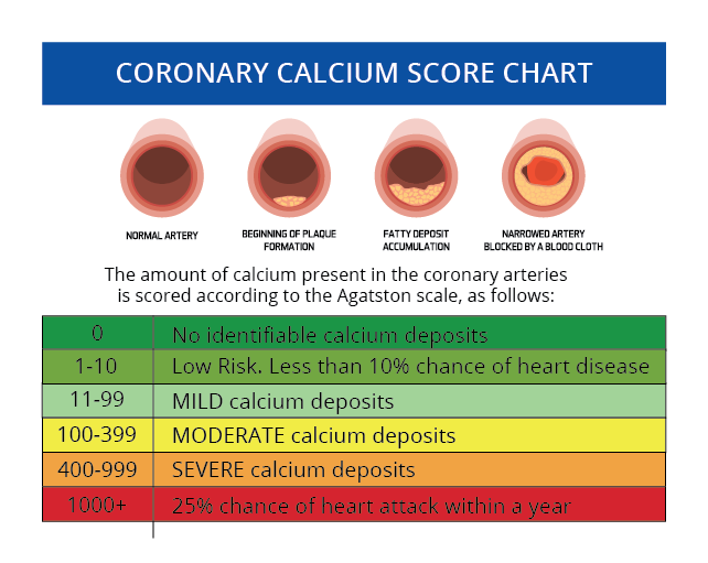what is a normal coronary artery calcium score
