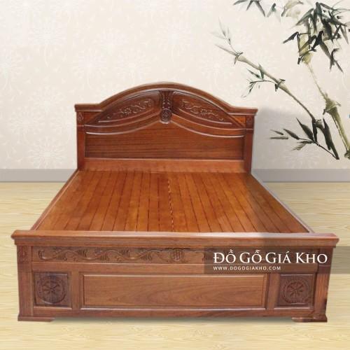 Giường Ngủ Nữ Hoàng Gỗ Gội - GN126