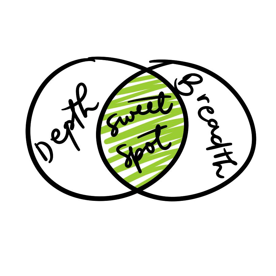 Progressive Summarization sweet spot venn diagram Celz Alejandro