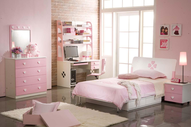 Mẫu phòng ngủ công chúa dành cho bé gái với đầy đủ tiện nghi.