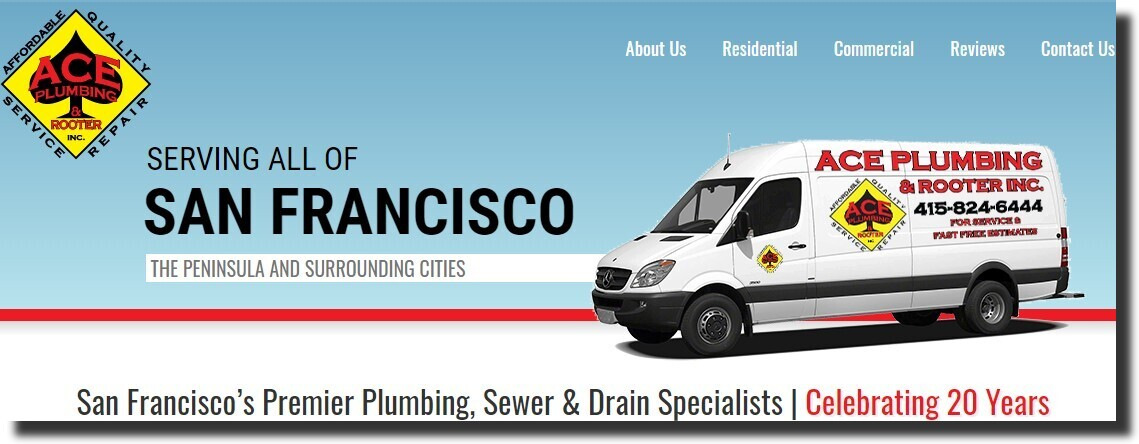 Ace Plumbing & Rooter website
