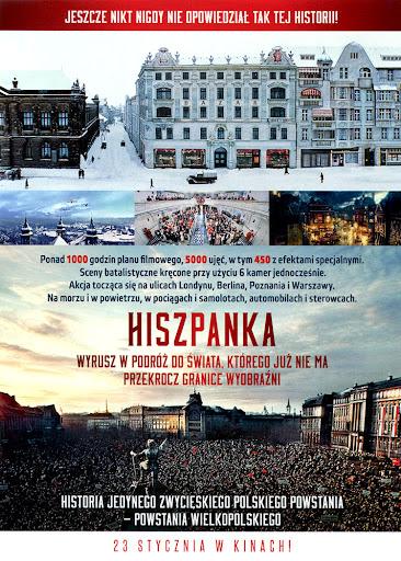 Tył ulotki filmu 'Hiszpanka'