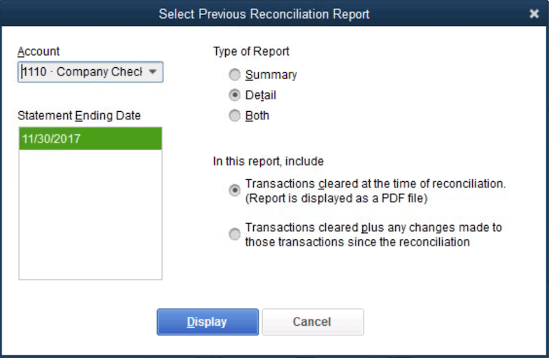 How To Get Reports For Previous Reconciliations In QuickBooks Desktop 1