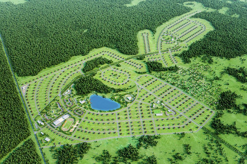 3D визуализация генплана коттеджного поселка | Brok