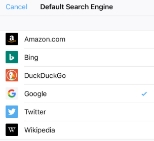 Choosing default search engine in Firefox - final step