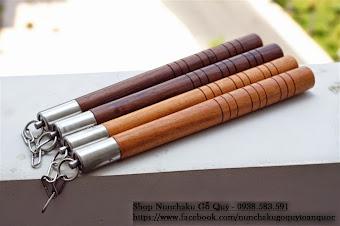 Bán Côn Nhị Khúc INOX Gỗ Quý Mun Trắc - nunchaku - nhikhuccon - 093.493.27.37 - 10