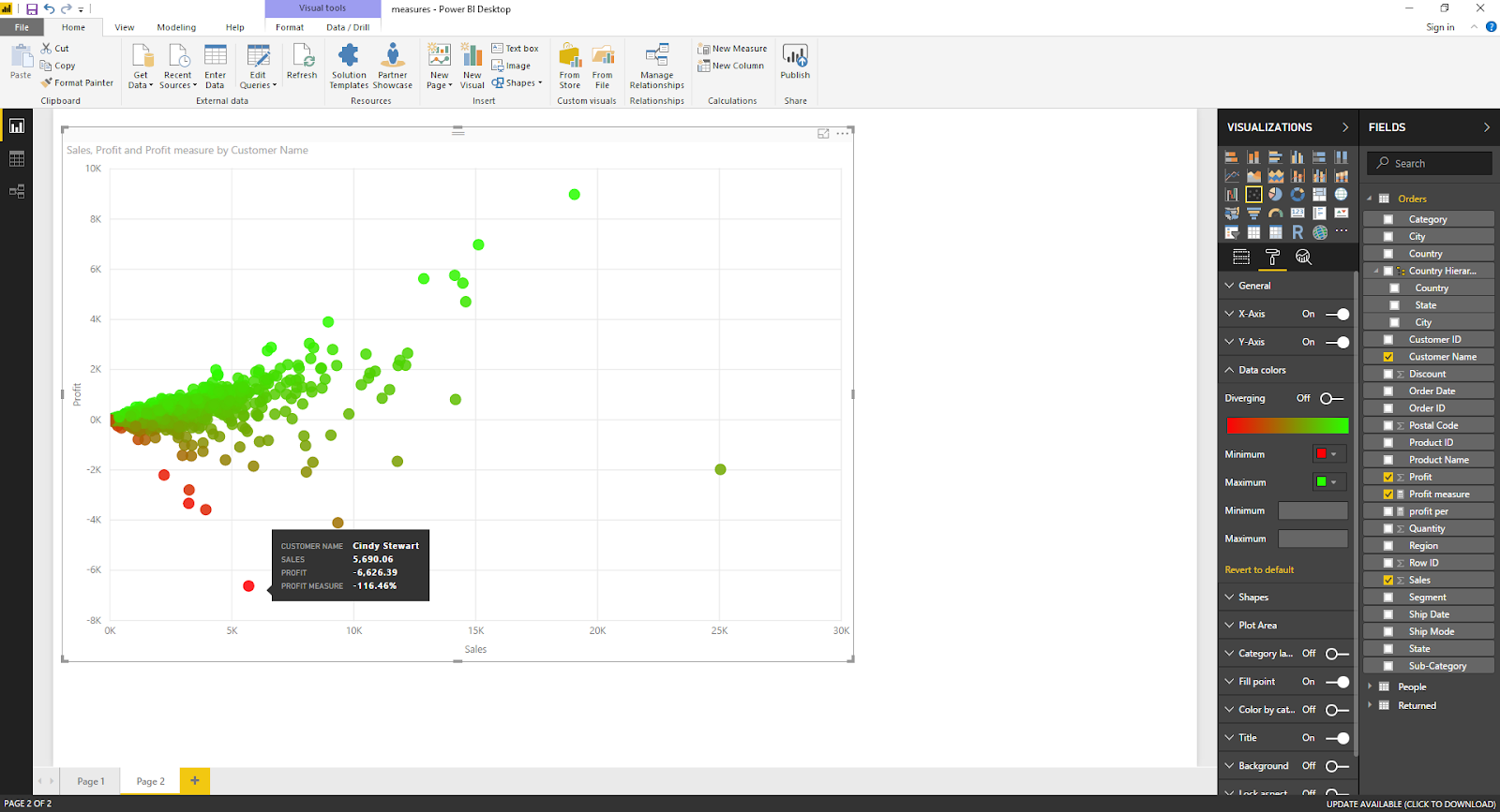 Scatter Plot Chart in Microsoft Power BI 39