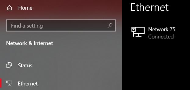 Select the Network & Internet settings