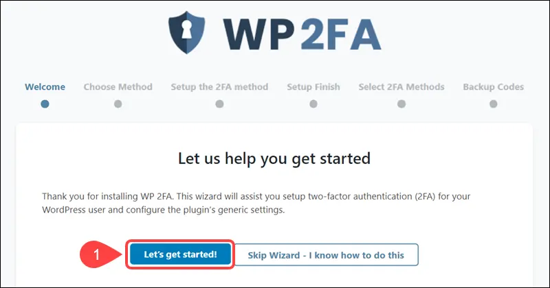 how to secure WordPress site - WP2FA