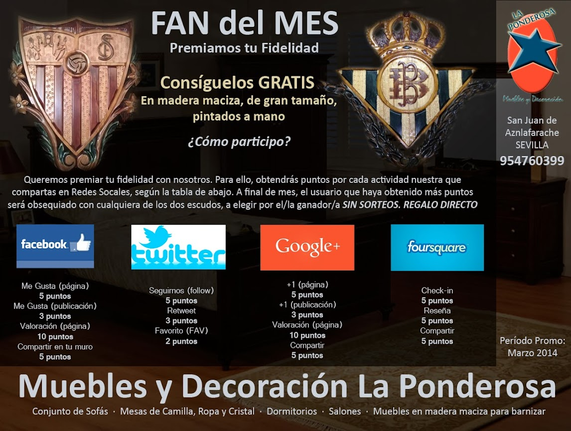 Promoci N Fan Del Mes Muebles La Ponderosa # Muebles Ponderosa