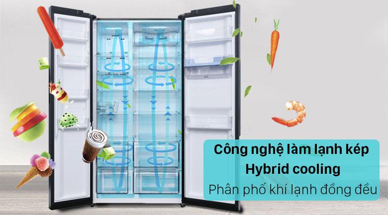 Tủ lạnh Sharp Inverter 572 lít SJ-FX640V-SL - Phân bổ đều khí lạnh
