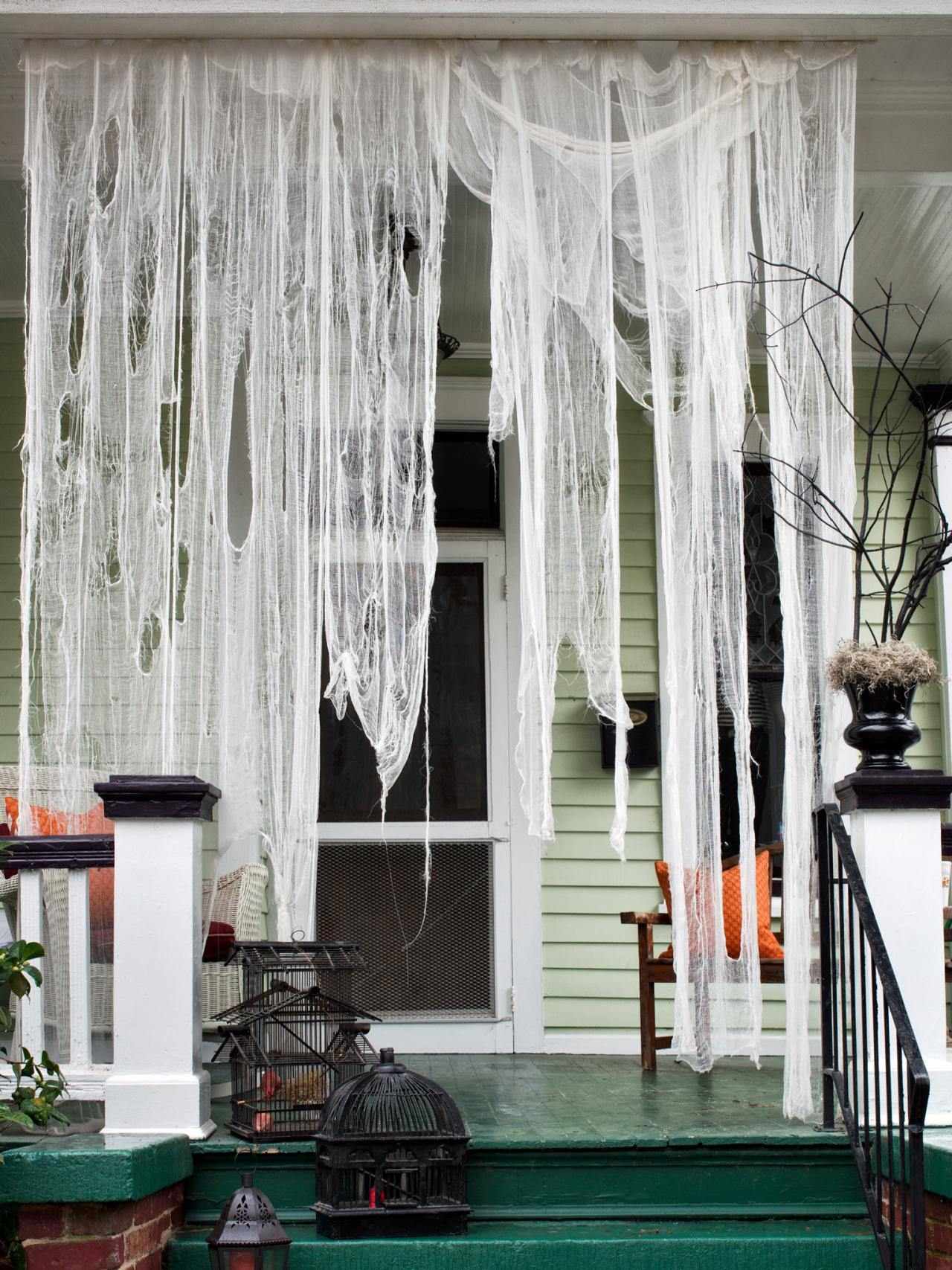 Recycle Tattered Draperies for Halloween Decoration Ideas
