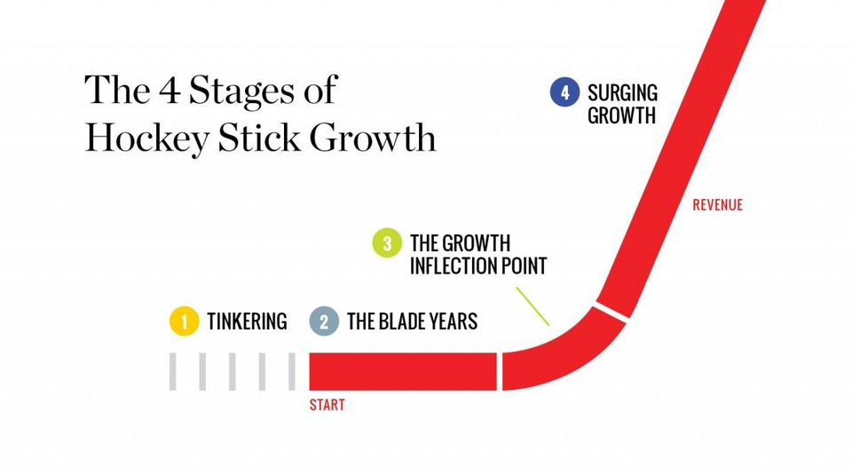 four stages of hockey stick growth