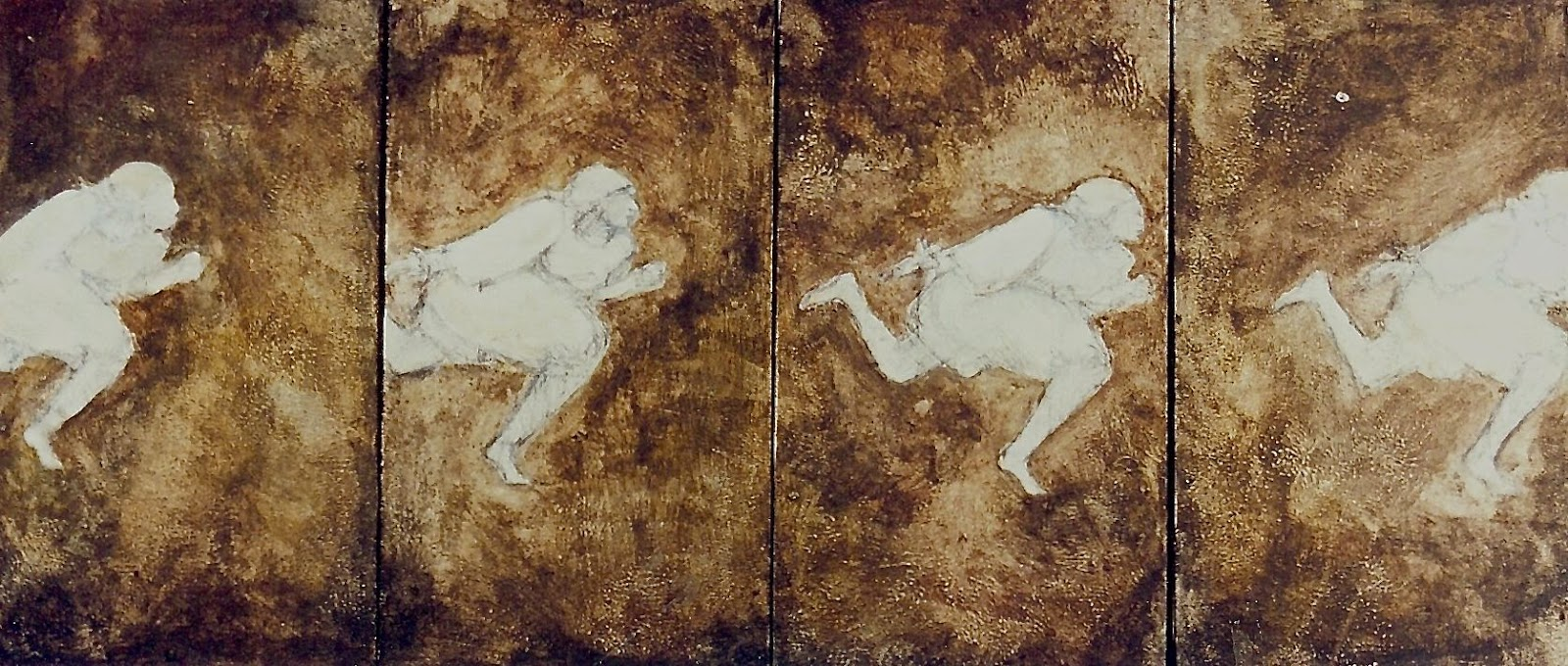 the harder they run, 2001 (acrylic and pencil on 4 panels of masonite).jpg